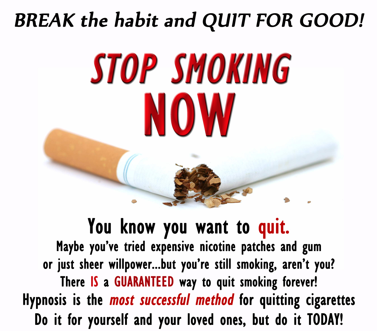 Hypnosis to Quit Smoking - The Secret to Successful Stop Smoking